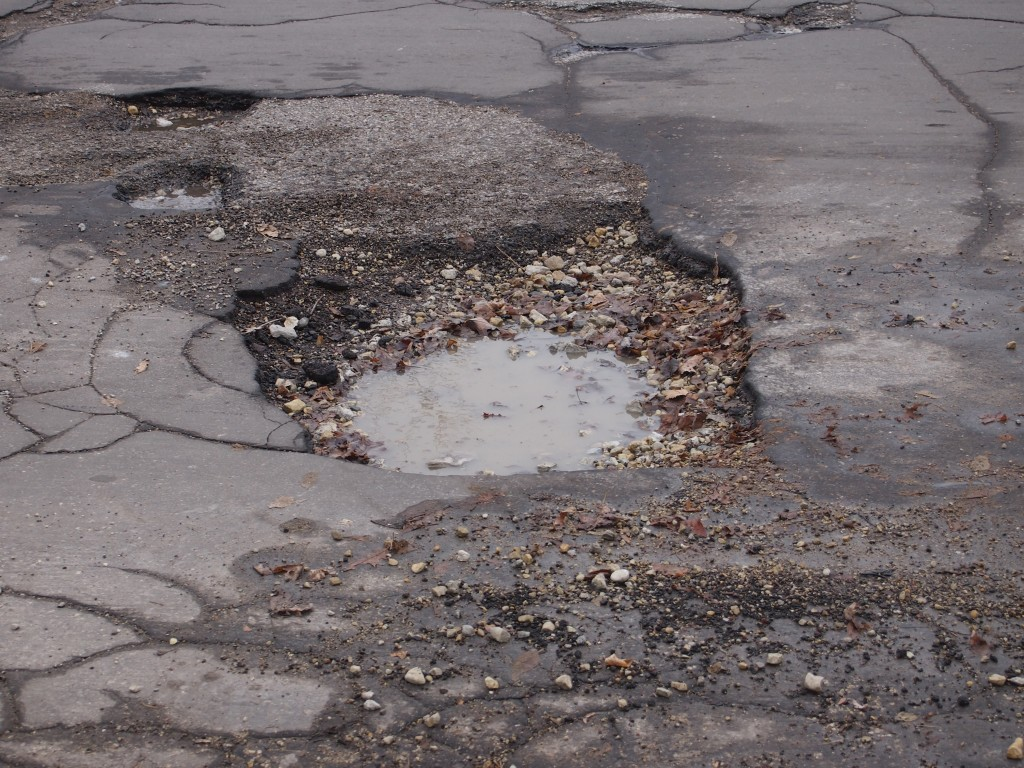 Pothole, March 2014