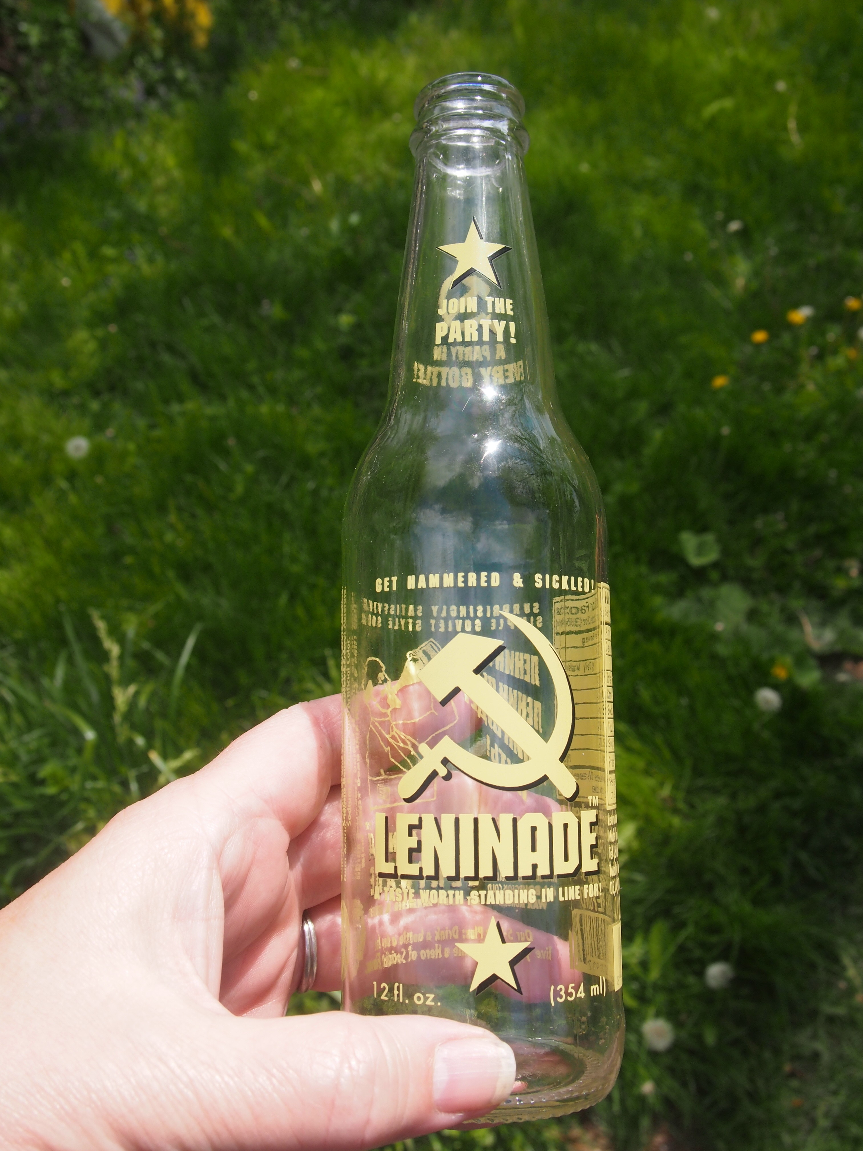 Leninade Soda Bottle