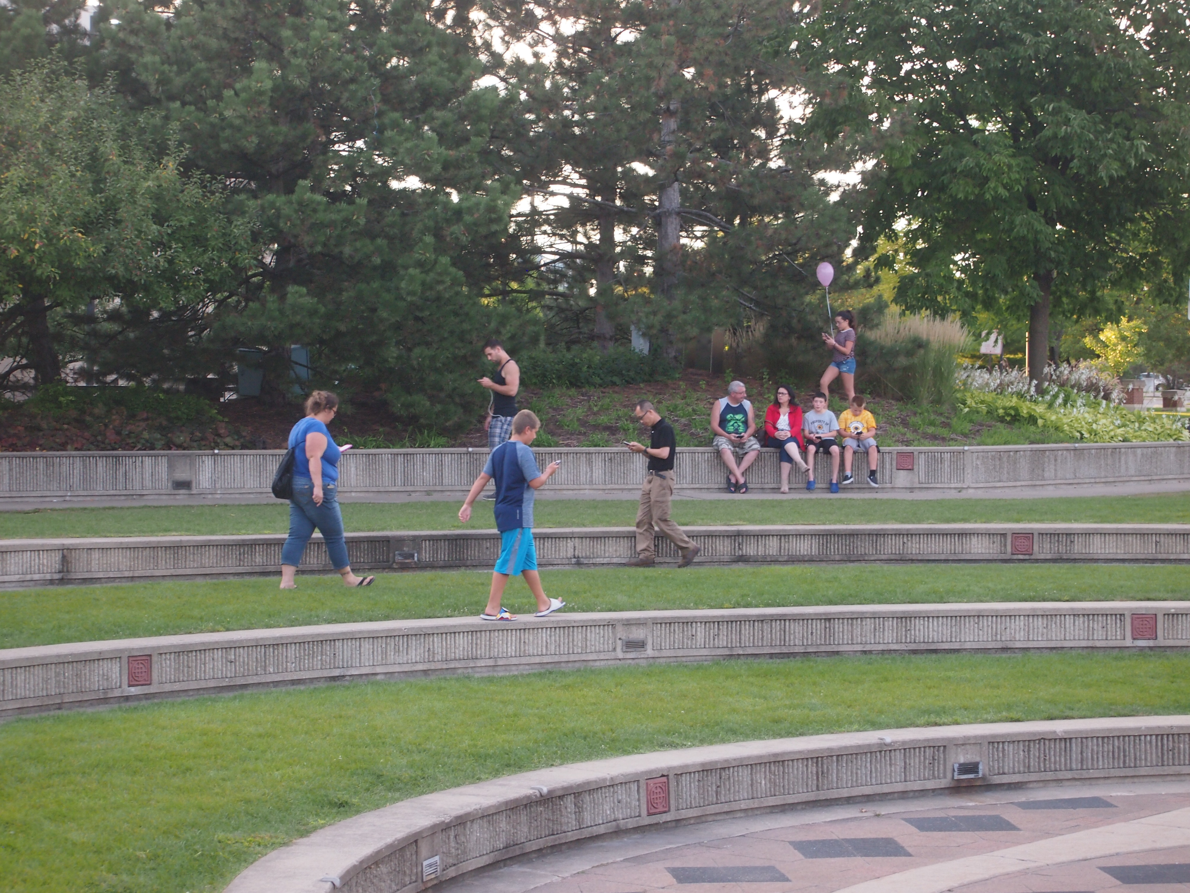 Playing Pokemon Go at Schaumburg Town Square 2016