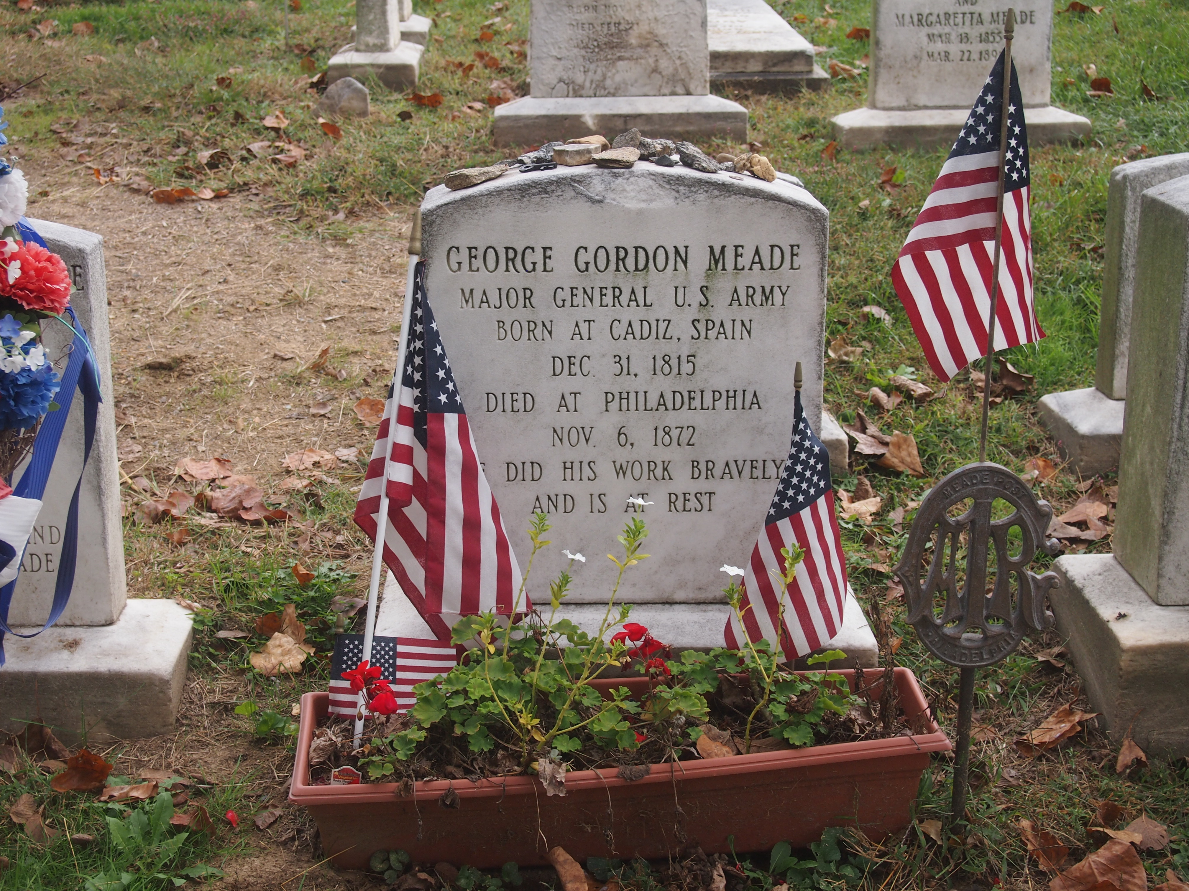 Laurel Hill Cemetery - George Meade Grave