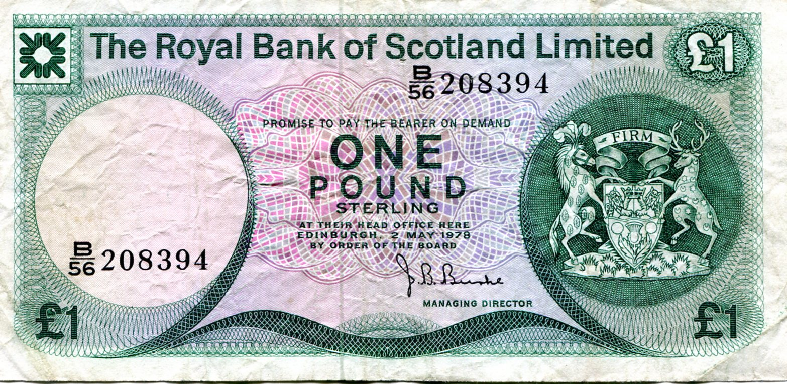 Royal Bank of Scotland One Pound Note 1978