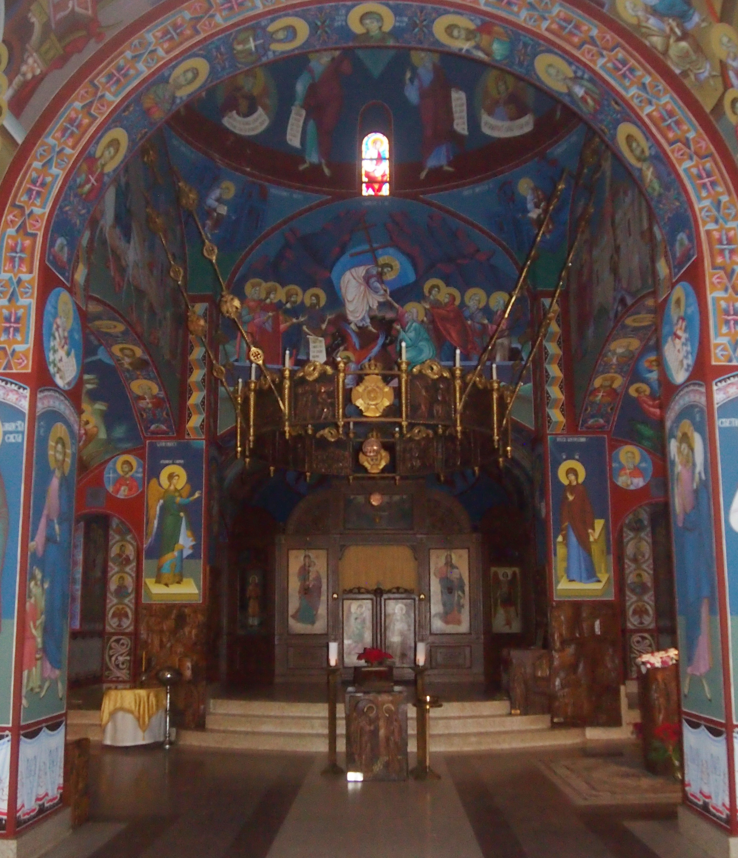 The church of St. Sava Monastery, Lake County Ill.