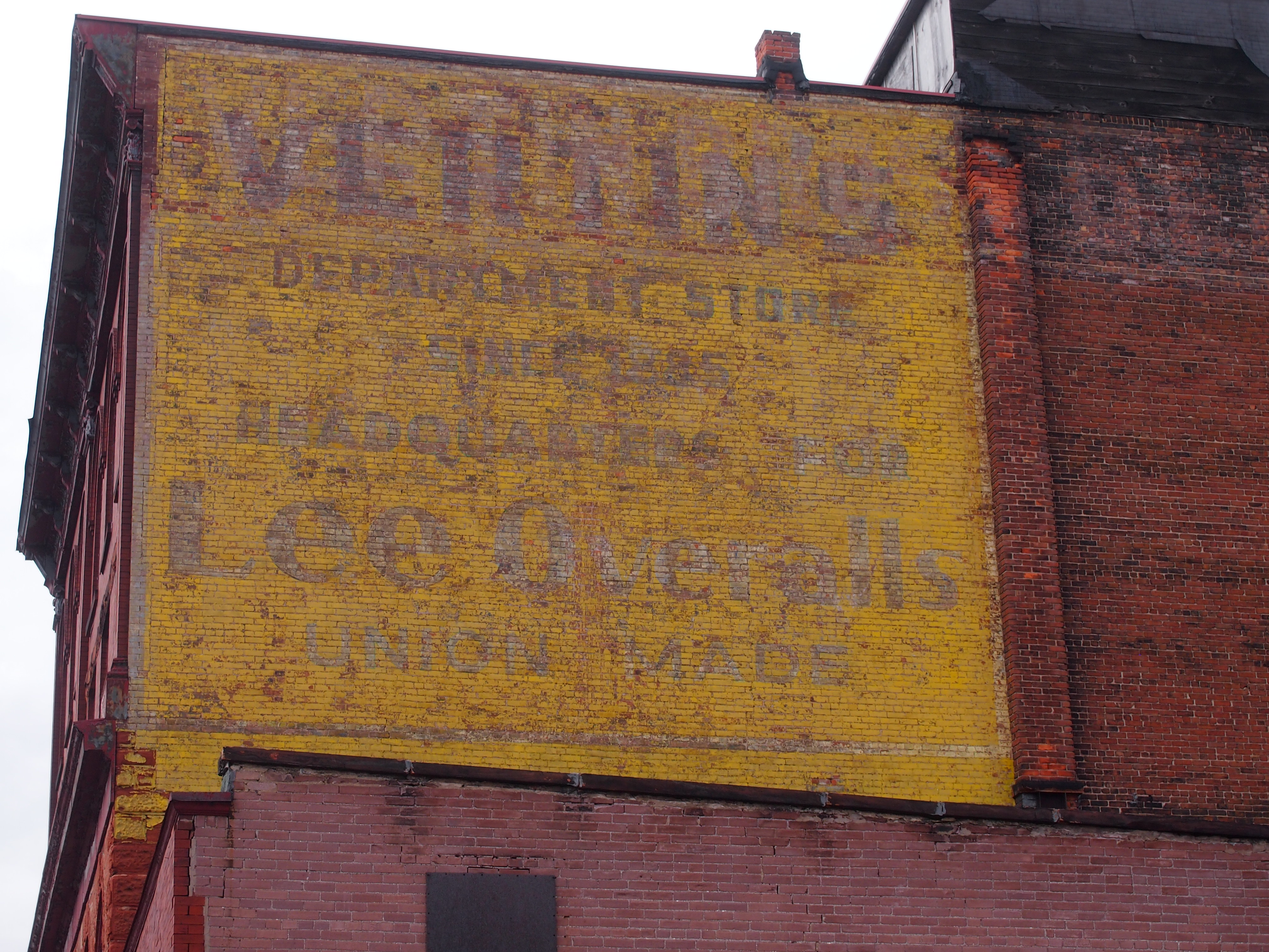 Ghost Sign, Calumet Michigan