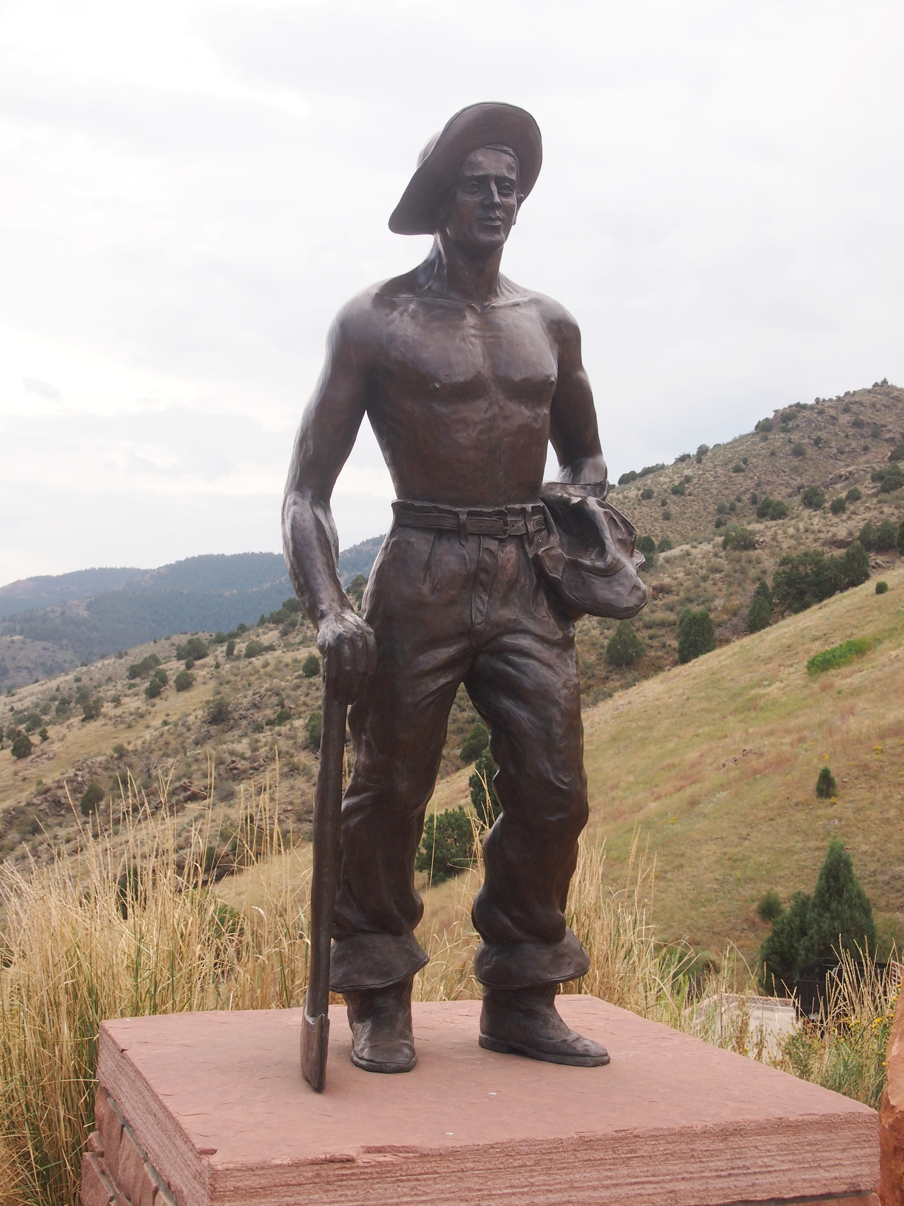 Red Rocks CCC worker statue, 2017