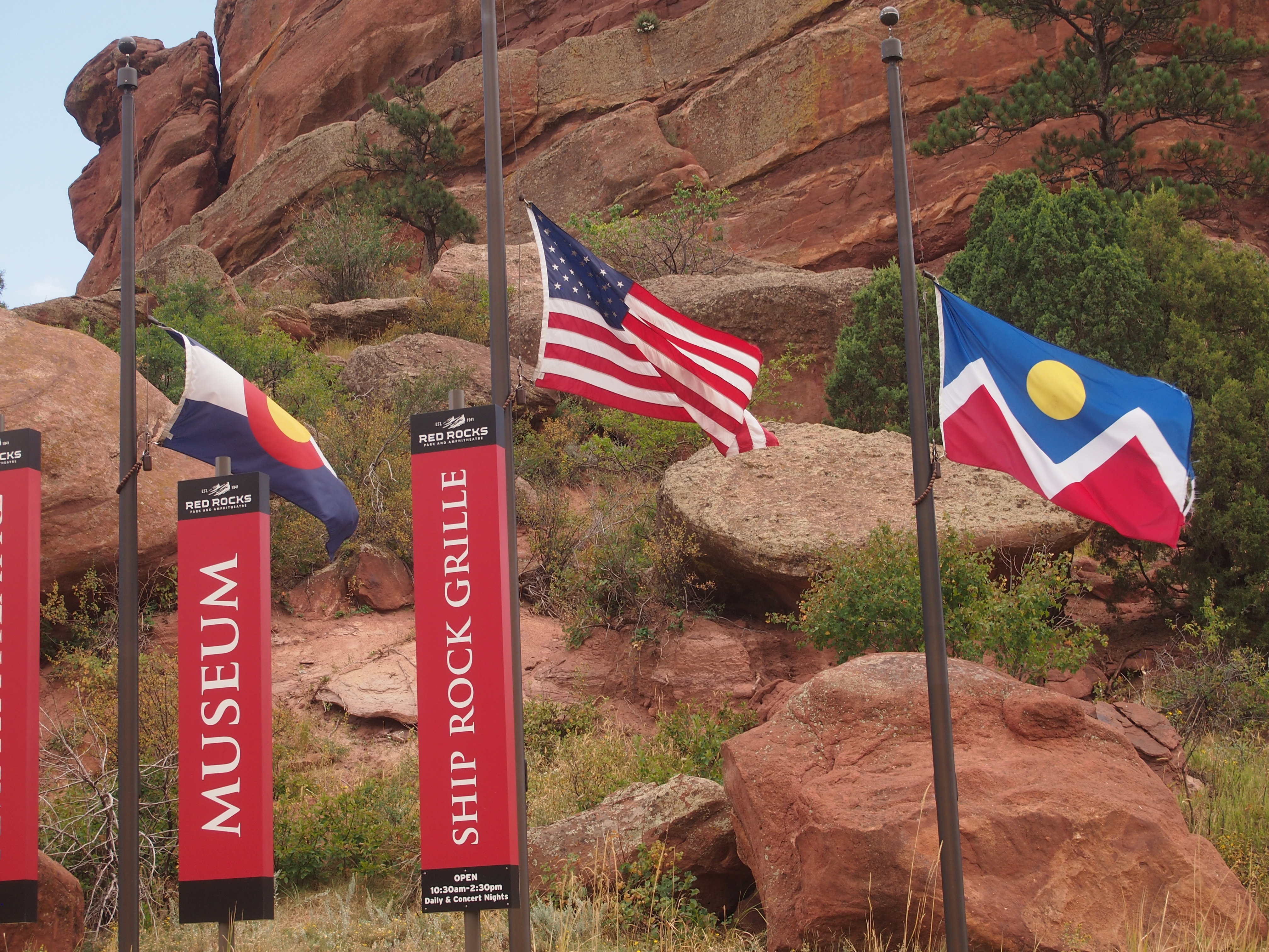 Flags: Colorado, US, Denver